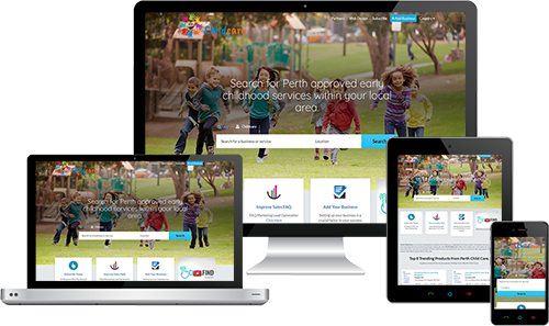 Perth Child Care displayed beautifully on multiple devices